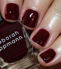 Deborah Lippmann Very Berry Fall 2016   Vampy Varnish / Cherries Jubilee is a dark black cherry red