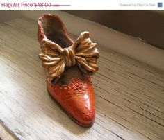 New Year SALE Victorian Miniature Shoe sculpture by MeshuMaSH, $15.30