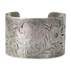 Pre-Owned Antique Sterling Monogrammed Cuff (20.375 RUB) ❤ liked on Polyvore featuring jewelry, bracelets, silver, monogram cuff bracelet, antique jewelry, letter jewelry, monogram jewelry and cuff bangle