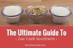This is the ultimate guide to low carb sweeteners. Which to use, how they work, handy tips and tricks. Come and learn how to make great low carb and sugar free baking. | ditchthecarbs.com