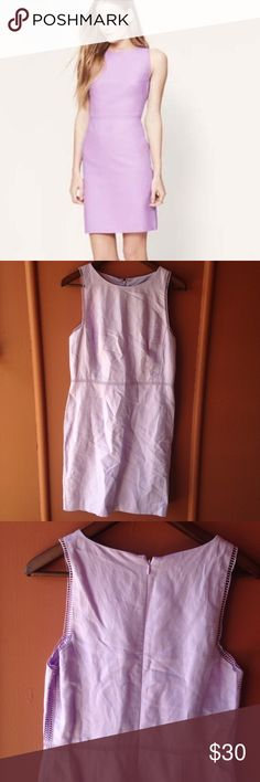 LOFT lilac dress NWT dress with eyelet detail on the sleeves and bottom trim ❌NO TRY ON LOFT Dresses