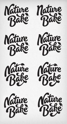 Nature Bake - Rob Clarke Type Design & Lettering