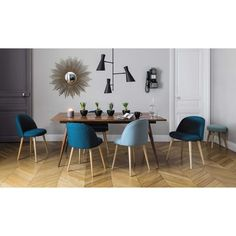 Table de salle à manger vintage en bois de sheesham massif L 175 cm