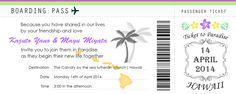 MAYU'S Hawaii Wedding Note