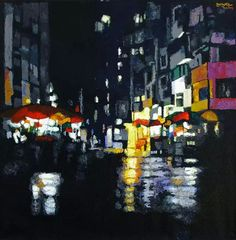 Yangon Night (2014)  Kyee Myintt Saw  Acrylic onCanvas