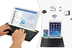 instead of for a Android compatible dual-channel Bluetooth keyboard from Wishwhooshoffers - save Jewellery Advent Calendar, Bluetooth Keyboard, Save Yourself, Channel, Android