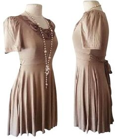 f8cc0d1dce7 Forever 21 short dress brown Chif Chiffon on Tradesy Size 16 Dresses