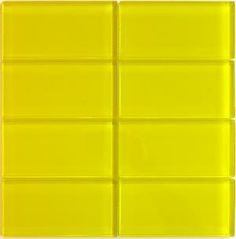 Bright Yellow Lush 3x6 Glass Subway Tile In Butter   Modwalls $20/sq.ft