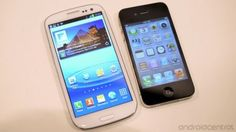 Galaxy SIII vs iPhone 4S in picture