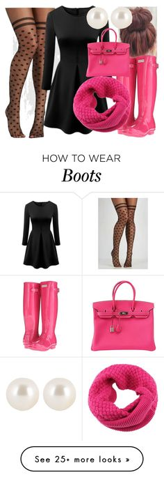Pink hunter boats outfit for women 61 Ideas Pink Hunter Boots, Hunter Boots Outfit, Fall Winter Outfits, Spring Outfits, Black Tights Outfit, Dress Black, Preppy Style, My Style, Dressy Casual Outfits
