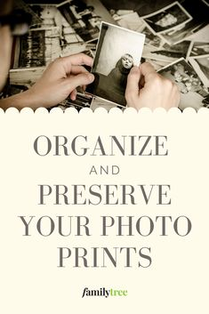 Precious family photos shouldn't be piled in just any old box! Here's how to organize and preserve your photo prints safely. Old Family Photos, Old Photos, Genealogy Organization, Organizing, Felt Tip Markers, Fine Point Pens, Photo Projects, Diy Projects, Page Protectors