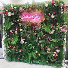 Joy Unspeakable Flowers on The final product of our live tropical flower wall - what do you all think ! Thank you so much to everyone who entered our first ever Flower Wall Backdrop, Wall Backdrops, Photo Booth Backdrop, Deco Floral, Floral Wall, Floral Design, Havana Nights Party, Photowall Ideas, Tropical Flowers