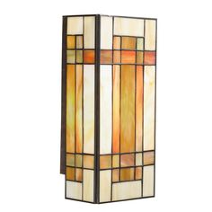 Kichler 69004 Stained Glass / Tiffany Two Light Wall Sconce with Art Glass from the Art Glass Collection