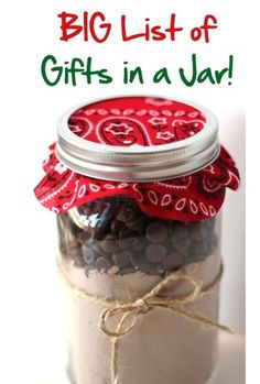 gifts in a jar   - lots of ideas