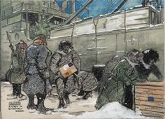 Members of the Siberian Expeditionary Force unload supplies. Four thousand Canadian soldiers served in Siberia. Ottawa agreed to participate in the mission in part out of loyalty to Britain and in part out of fear of Bolshevik Russia.