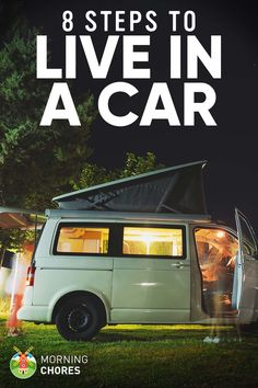 How to Live in Your Car to Save Money: 8 Easy Steps to Get Started Camping Guide, Diy Camping, Camping World, Family Camping, Camping Hacks, Camping Ideas, Camping Stuff, Tent Camping, Camping Toilet