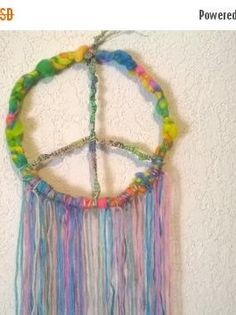 Bohemian Hippie Gypsy Peace Sign Dream by DreamCatcherMan on Etsy