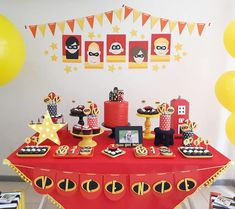 Trendy party themes for kids boys first birthdays ideas Baby Boy Birthday, Birthday Diy, 3rd Birthday Parties, Birthday Ideas, Kids Party Themes, Diy Party Decorations, Ideas Party, Incredibles Birthday Party, First Birthdays