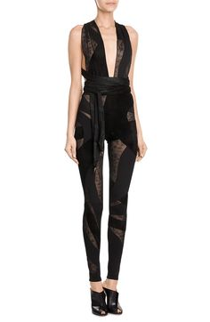 Jumpsuit with Sheer Inserts look detail
