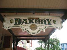 Bakery Sign, Disney World. Bakery Sign, Baked Bakery, Disney Sign, Picture Story, Walt Disney Company, Signage Design, Amusement Park, Store Fronts, Magic Kingdom