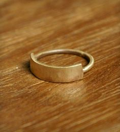 Brass Banner Ring - minimal perfection