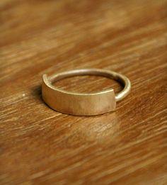 Brass Banner Ring - minimal perfection