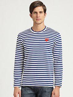 Comme des Garcons Play Striped Cotton Shirt