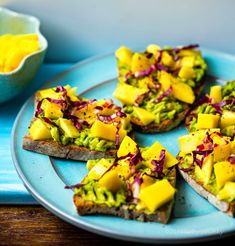 Delicious vegan Mango Avocado Toast