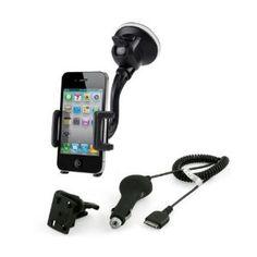 8fd9210dfab MCA iPhone Car Bundle Support pare-brise et chargeur pour iPhone /. iPhone 5