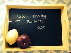 Serving Tray Solid Walnut Wood Chalkboard by CustomCutMonograms Good Morning Sunshine, Walnut Wood, Trays, Chalkboard, Catalog, Gift Ideas, Crafty, Fruit, Room