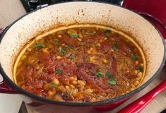 Bean in the oven (Rhodes Lopada) Recipe Food Categories, Mediterranean Recipes, Chili, Oven, Beans, Soup, Ethnic Recipes, Rhodes, Gastronomia