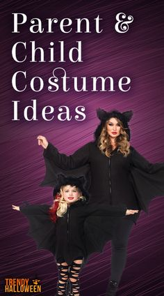 Parent and child Halloween costume ideas.  15% off now through October 31st, 2015 and get free shipping on all qualifying orders. Click to shop our entire collection now