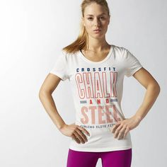 Reebok CrossFit Chalk and Steel Graphic Tee - White