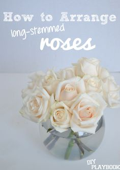 How to Arrange Long-Stemmed Roses in a rounded vase. #flowers