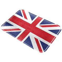 Brittish Flag Distressed Grunge All Over Glass Cutting Board