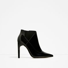 ZARA - COLLECTION SS/17 - HIGH HEEL PATENT FINISH ANKLE BOOTS