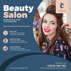 Download the Free Beauty Salon Instagram Template for Photoshop! - Free Business Flyer, Free Flyer Templates, Free Health Flyer, Free Instagram Templates - #FreeBusinessFlyer, #FreeFlyerTemplates, #FreeHealthFlyer, #FreeInstagramTemplates - #Beauty, #Business, #Instagram, #Salon, #Service, #SocialMedia, #Square
