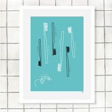 this toothfamily print would be easy to DIY for the bathroom