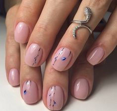 nude nails decorating ideas spring manicure