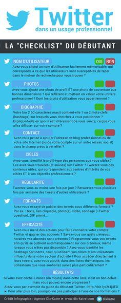 Comment bien débuter sur Twitter (infographie) | Médias sociaux et réseaux professionnels