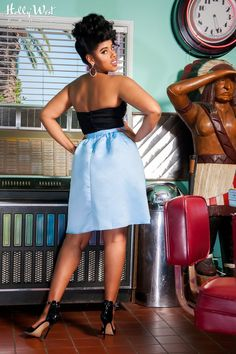 Periwinkle Skirt in Pale Blue | Pinup Girl Clothing