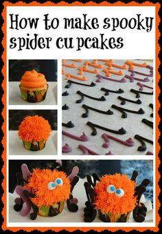 Spider Halloween cupcakes tutorial