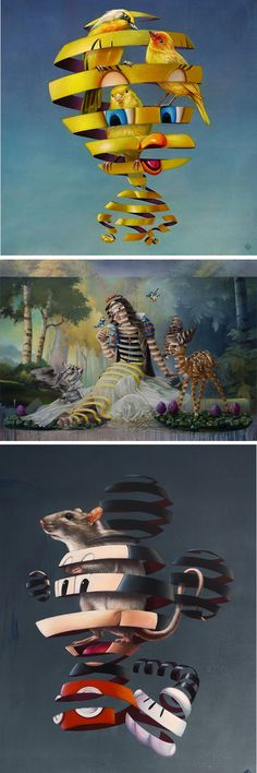 A Series of Ordinary Humans and Creatures Trapped Within Their Pop Culture Depictions
