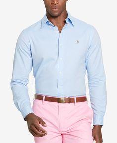 Polo Ralph Lauren Men's Men's Slim Fit Oxford Long Sleeve Shirt