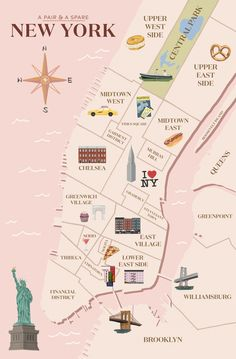 Map Of New York City Tourist Sites.Tourist Map Of New York City Attractions Sightseeing Museums