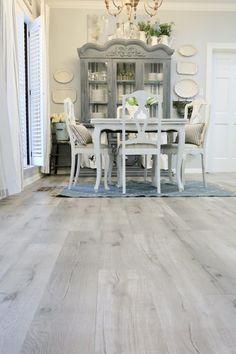 Updating a Kitchen with Vinyl Engineered Plank Flooring Vinyl Flooring Kitchen, Kitchen Vinyl, Wood Laminate Flooring, Wide Plank Flooring, Luxury Vinyl Flooring, Luxury Vinyl Plank, Hardwood Floors, White Vinyl Flooring, Plywood Floors