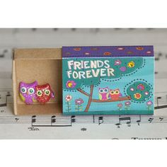 Friends Owl Matchbox Card is a great little reminder to send to a friends. It's super cute!