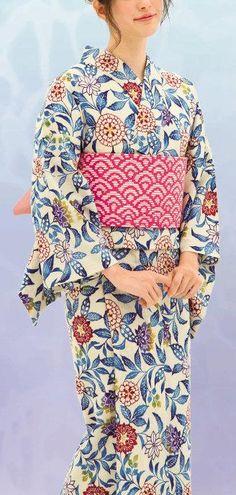 ★NEW★浴衣 2015年版新柄まとめ♡の11枚目の写真 | マシマロ Japanese Yukata, Japanese Outfits, Japanese Clothing, Yukata Kimono, Kimono Top, Modern Kimono, Summer Kimono, Japan Fashion, Kimono Fashion