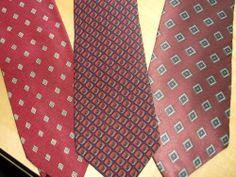 3 piece Designer mens ties (Claybrook, Rocha, Lord & Taylor )value $99.00 + #ClaybrookRochaLordTaylor #NeckTie