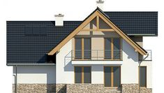 House Project LK&1130 Ceramic Roof Tiles, Balcony Doors, Three Bedroom House, Barn House Plans, Interior Walls, Home Fashion, Ground Floor, Home Projects, Gas Boiler